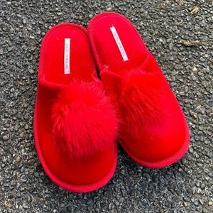 Red Puff Ball Slipper